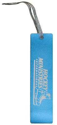 Hockey Ministries International Bookmark, Blue    -