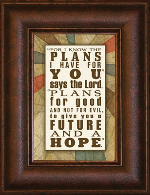 For I Know the Plans Mini Framed Print  -