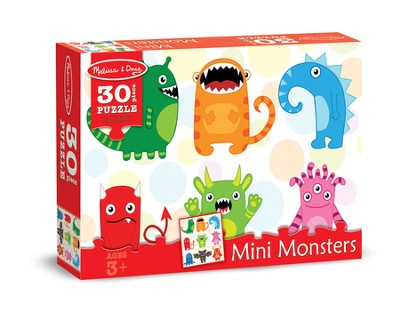 Mini Monsters Jigsaw Puzzle, 30 Pieces  -