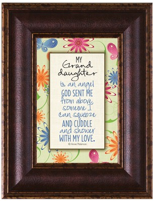 My Granddaughter Framed Art  -