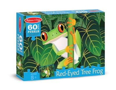 Red-Eyed Tree Frog Jigsaw Puzzle, 60 Pieces  -
