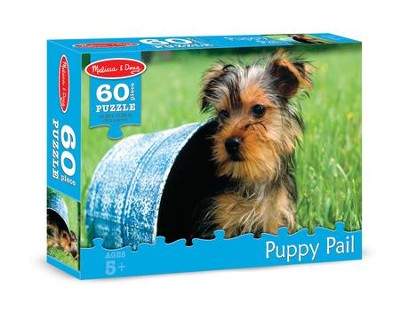 Puppy Pail Jigsaw Puzzle, 60 Pieces  -