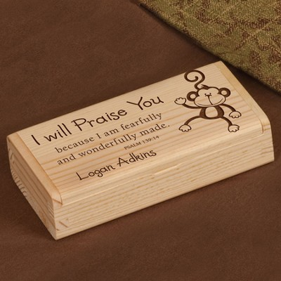 Personalized, I Will Praise You Wooden Box   -