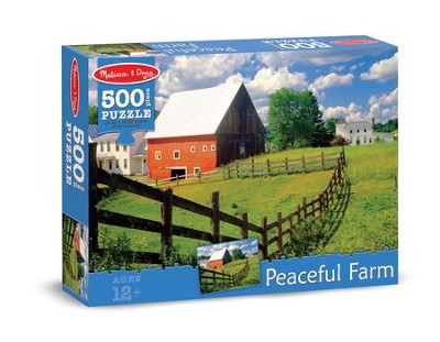 Peaceful Farm Jigsaw Puzzle, 500  -
