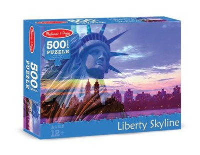 Liberty Skyline Jigsaw Puzzle, 500 Pieces  -