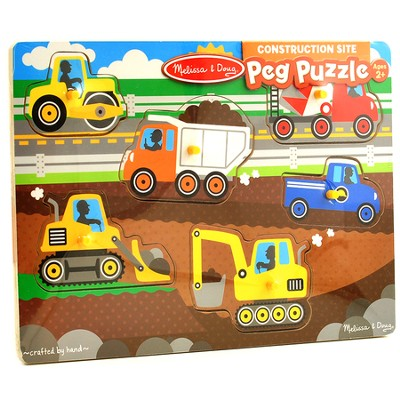 Construction Site Peg Puzzle, 6 Pieces  -