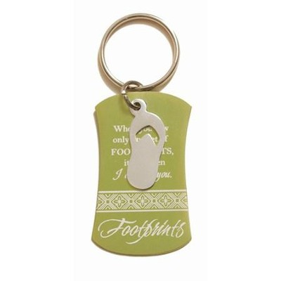 Footprints Keyring  -