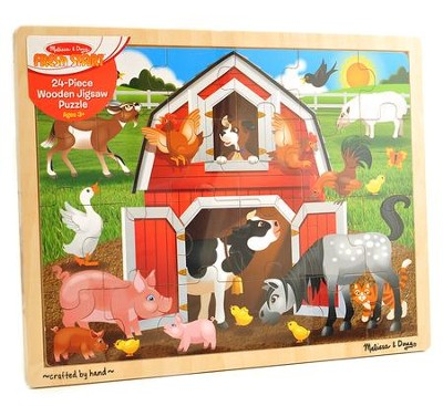 Barnyard Jigsaw Puzzle, 24 Pieces  -