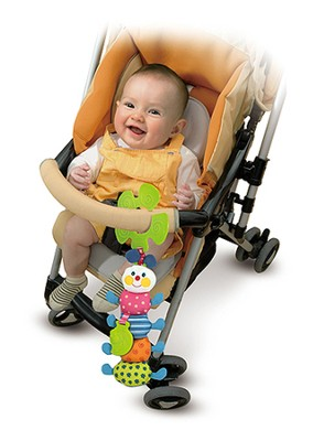 Funky Inchworm Stroller Toy  -