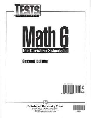 BJU Press Math Grade 6 Test Packet   -