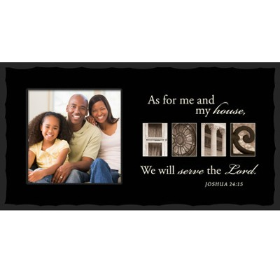As For Me and My House, HOME, Alphabet Photo Frame  -