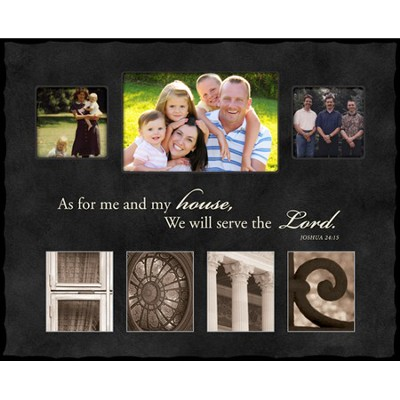 As For Me and My House, HOME, Alphabet Photo Frame, Large  -