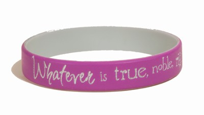 Whatever Is True Silicone Bracelet  -