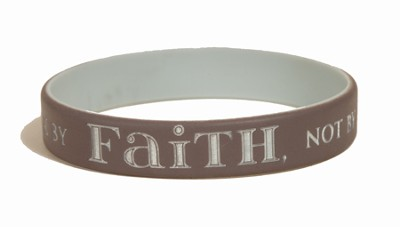 Walk By Faith Silicone Bracelet  -