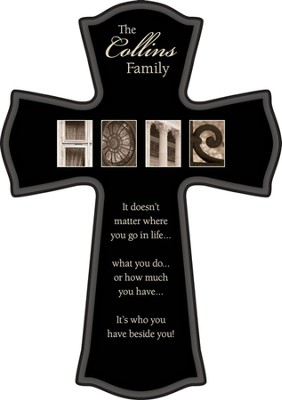 Personalized, Home Black Cross, 11.5   -