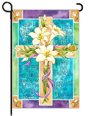 Easter Lily Cross Flag, Small  -     By: Krista Hamrick