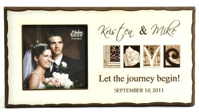 Personalized, Love: Let the Journey Begin Photo Frame, Cream   -     By: Jennifer Blakeley