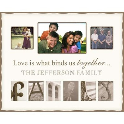 Personalized, Family Photo, Cream, Large   -