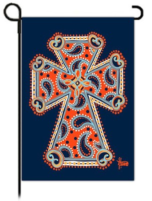Paisley Cross Flag, Small  -     By: Brushfire Designs