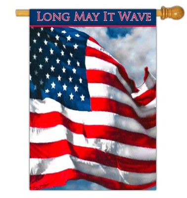 Long May It Wave Flag, Large  -