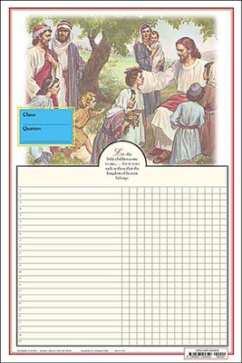 Abingdon Classroom Chart Jesus Blessing His Children (set of 3)  -