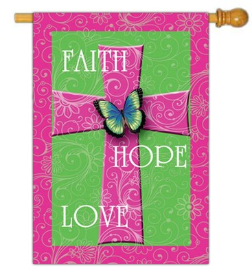 Faith, Hope, Love Flag, Large  -