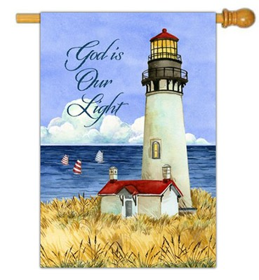 God is Our Light Flag, Large  -     By: Debi Hron