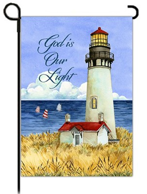 God is Our Light Flag, Small  -     By: Debi Hron