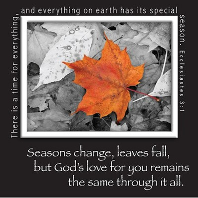 Picture Magnet, Leaf, God's Love For You Remains   -