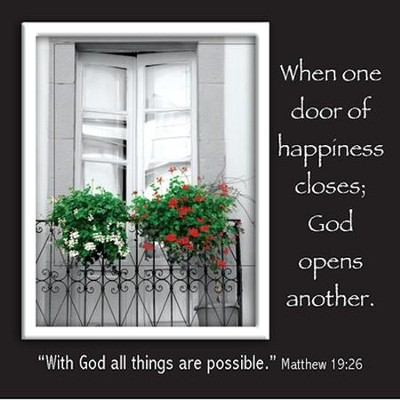 Picture Magnet, Door, Matthew 19:26   -