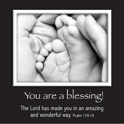 Picture Magnet, Baby's Feet, Psalm 139:14  -