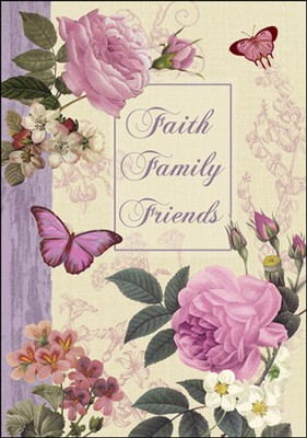 Faith, Family, Friends Flag, Small  -     By: Graceful Petals