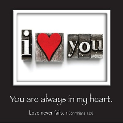 Picture Magnet, I Love You, I Corinthians 13:8   -