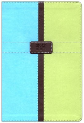 NIV Life Application Study Bible, Italian Duo-Tone, Pool Blue/Melon Green 1984 - Imperfectly Imprinted Bibles  -
