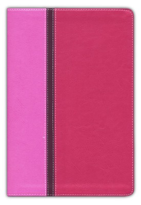 Quest Study Bible, The Question and Answer Bible Italian Duo-Tone, Orchid/Raspberry 1984 - Imperfectly Imprinted Bibles  -
