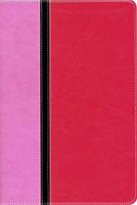 Quest Study Bible, The Question and Answer Bible Italian Duo-Tone, Orchid/Raspberry - Slightly Imperfect  -