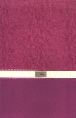 New American Standard Bible, Thinline Bible, Italian Duo-Tone, Orchid/Butter Cream  -