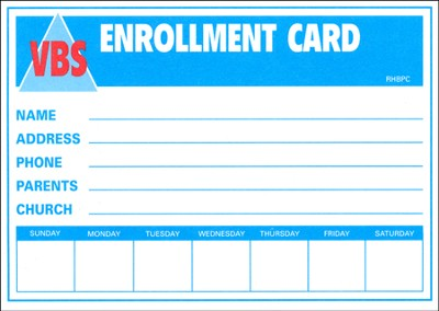 Heavenly Treasure VBS Enrollment Cards, Package of 50  -