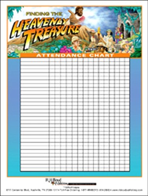 Heavenly Treasure VBS Attendance Chart  -