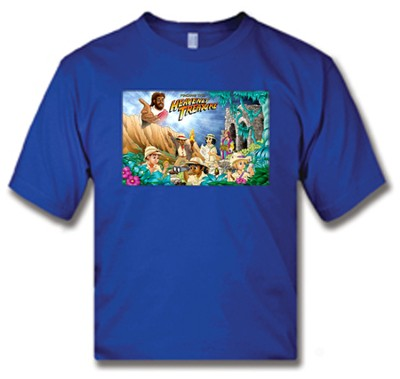 Heavenly Treasure Adult Royal Blue T-shirt, Medium  -