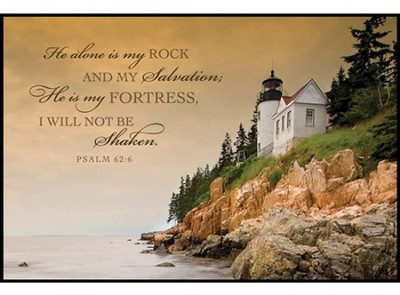 He Alone Is My Rock Mini Mounted Print   -