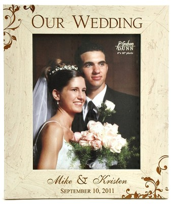 Personalized, Our Wedding 8X10 Photo Frame   -