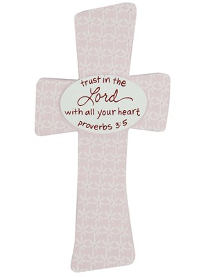 Trust in the Lord Baby Cross, Pink  -     By: Maggie Lindley