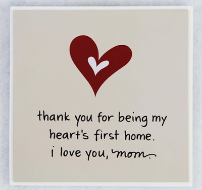 Thank You for Being Mom Plaque  -     By: Maggie Lindley