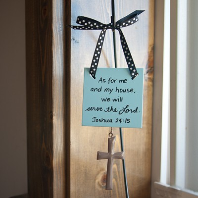 As for Me and My House Mini Plaque  -     By: Maggie Lindley