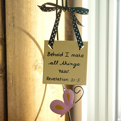 All Things Through Christ Mini Plaque  -     By: Maggie Lindley