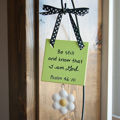 Be Still and Know That I am God Mini Plaque  -     By: Maggie Lindley