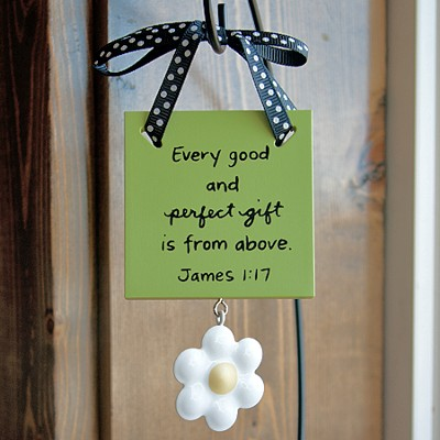 Every Good and Perfect Gift Mini Plaque  -     By: Maggie Lindley
