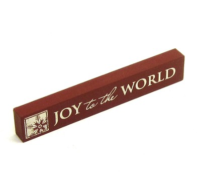 Joy to the World Shelf Plaque  -