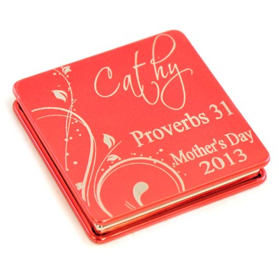 Personalized, Proverbs 31 Red Compact Mirror   -